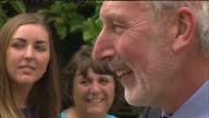 Exterior shots Camilla meeting staff with Andy Atkinson on July 14 2014 in Liskeard England