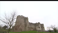 Exterior shots Chepstow Castle towers battlements ramparts Chepstow Castle Stockshots on March 03 2012 in Chepstow Wales