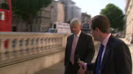 Exterior shots Darren McCaffrey asking questions about Syria of Andrew Lansley Ed Davey Andrew Lansley Arriving For Syria Meeting on August 29 2013...