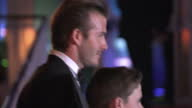 Exterior shots David Beckham arrives on the red carpet at the Millie Awards with his sons Brooklyn Cruz poses for the press David Beckham Sons at the...