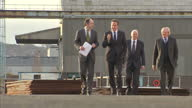 Exterior shots David Cameron on tour of docklands on The Wirral with Lord Heseltine Interior shots David Cameron sat in meeting David Cameron in the...