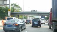 Exterior shots driving along highways in Shenzhen on September 20 2015 in Shenzhen China