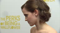 Exterior shots Emma Watson at the premiere of The Perks of Being a Wallflower Emma Watson on Red Carpet on October 27 2012 in London England
