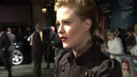 Exterior shots Evan Rachel Wood chats to the media on the red carpet at the premiere of The Ides of March Evan Rachel Wood at The Ides of March...