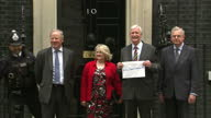 Exterior shots gay marriage petition is delivered to 10 Downing Street Conservative Party split over the Gay Marriage vote on May 19 2013 in London...