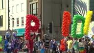 Exterior shots Gay Pride Parade in Belfast on August 06 2016 in Belfast Northern Ireland