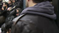 Exterior shots Harry Styles One Direction arrives at Band Aid 30 recording