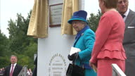 Exterior shots HM The Queen Elizabeth II at Tweedbank Station and unveils plaque Exterior shots Prince Philip Duke of Edinburgh First Minister Nicola...