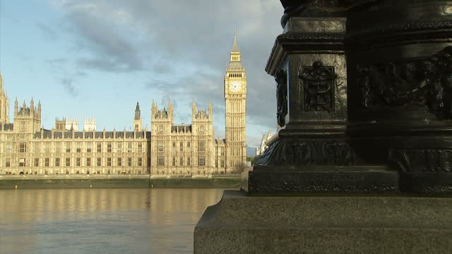 Exterior shots Houses of Parliament and Elizabeth Tower on sunny morning on May 05 2015 in London England