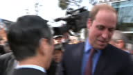 Exterior Shots HRH Prince William Duke of Cambridge meeting members of public outside Tsutaya Books store on February 28 2015 in Tokyo Japan