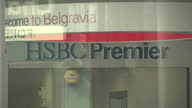 Exterior shots HSBC bank branch HSBC Premier branch in London Belgravia on April 24 2015 in London England