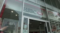 Exterior shots HSBC bank branch on April 24 2015 in London England