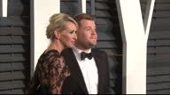 Exterior shots James Corden and wife Julia Carey pose on February 22 2015 in Los Angeles California