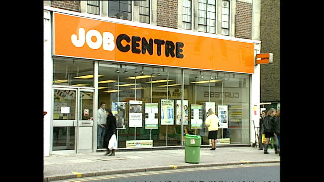 Exterior shots Job Centre branch on high street on February 16 1989 in Hounslow United Kingdom