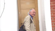 Exterior shots Ken Livingstone Former Labour London Mayor arrives home and refuses to speak to the media over his comments that 'Hitler was a...