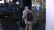 Exterior shots Ken Livingstone Former Labour Mayor of London arrives in Leicester Square at Global Radio offices for interview on LBC radio ignores...