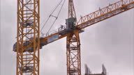 Exterior shots large cranes working on construction site of luxury apartments on July 08 2015 in Liverpool England