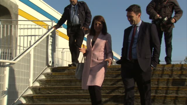 Exterior shots Liz Kendall MP Andy Burnham MP arr for BBC 5Live Labour Leadership hustings Jeremy Corbyn MP arrives The four candidates for the...