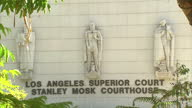 Exterior shots Los Angeles Superior Court building with shots of building architecture on October 10 2015 in Los Angeles California