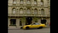Exterior shots luxury brand stores on Madison Avenue on November 05 1996 in New York City