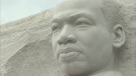 Exterior shots Martin Luther King Memorial statue in West Potomac Park Washington DC on in Washington United States