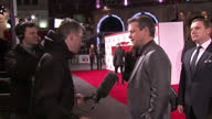 Exterior shots Matt Damon actor in 'The Monuments Men' talking with media at UK premiere on in London England