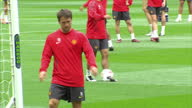 Exterior shots Michael Owen training with Manchester United squad at Wembley stadium ahead of the 2011 UEFA Champions League Final on May 27 2011 in...