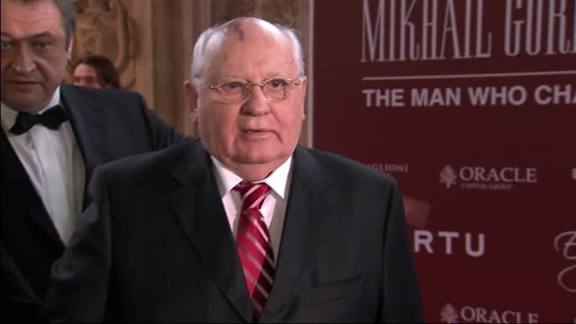 Exterior shots Mikhail Gorbachev arrives at the Royal Albert Hall for his 80th Birthday party celebrations Mikhail Gorbechev arrives for his 80th...