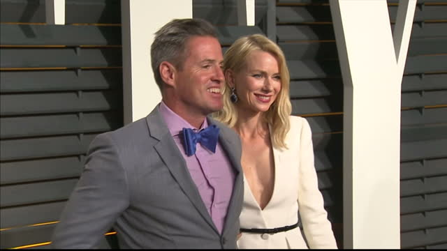 Exterior shots Naomi Watts and brother Ben Watts posing on red carpet on February 22 2015 in Los Angeles California