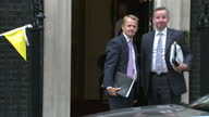 exterior shots new Government ministers arrive for first meeting at 10 Downing Street Iain Duncan Smith MP Andrew Lansley MP Maria Miller MP Michael...