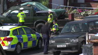 Exterior shots of a cordoned police crime scene where Aston Villa footballer Dalian Atkinson died after police repeatedly tasered him on August 15...