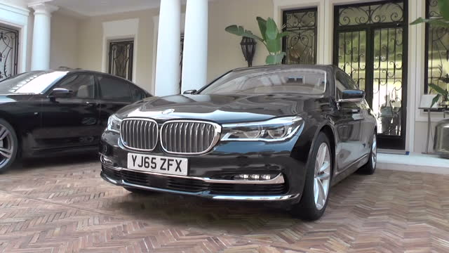 Exterior shots of a new BMW 7Series car parked on March 17 2016 in Munich Germany