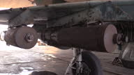 Exterior shots of a very elderly Syrian air force Mig fighter jet in its hanger on December 21 2015 in Latakia Syria