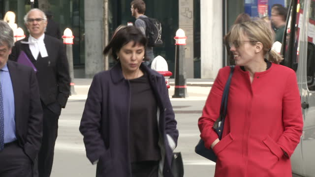Exterior shots of actress Sadie Frost arriving at court to give evidence about phone hacking by Mirror Group journalists>> on March 12 2015 in London...