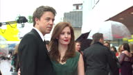 Exterior shots of Amy Nuttall posing for photos on red carpet of BAFTA awards with husband Andrew Buchan Amy Nuttall on red carpet of BAFTA awards at...