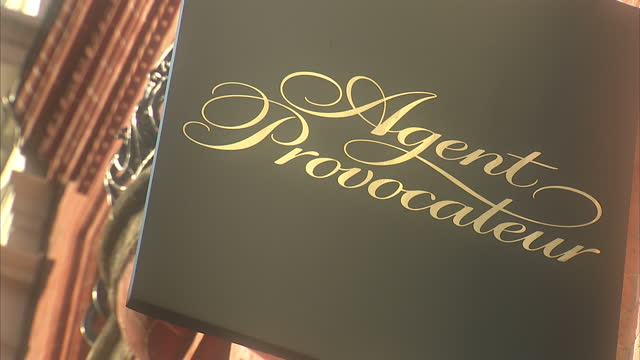 exterior shots of an agent provocateur store on bond street stock footage video getty images. Black Bedroom Furniture Sets. Home Design Ideas