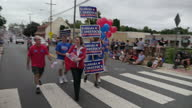 Exterior shots of an Independence Day parade through the town of Leesburg VA on 4 July 2016 in Leesburg VA United States