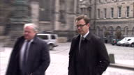 exterior shots of Andy Coulson Former News of The World Editor Director of Communications For David Cameron arriving to court with legal team for a...