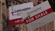 Exterior shots of antfracking protesters demonstrating against the approval of two shale gas exploration sites in Lancashire>> on June 23 2015 in...