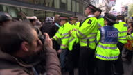 Exterior shots of anticapitalist protesters clashing with police as officers attempt to contain demonstrators Occupy London Protesters Clash With...