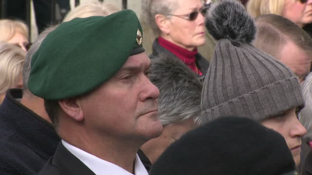 Exterior shots of Armistice Day commemorations at the National memorial Arboretum on November 11 2017 in Alrewas England