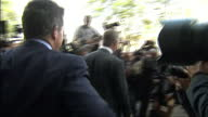 Exterior shots of Bob Diamond former chief executive of Barclays departs Portcullis house surrounded by paparazzi Bob Diamond Departing Portcullis...