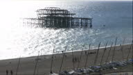 Exterior shots of Brighton beach and the skeletal remains of the West Pier>> on September 28 2015 in Brighton England