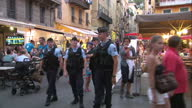Exterior shots of cafes and street market stalls with people walking past in Nice in the aftermath of the lorry terror attacks on July 15 2016 in...