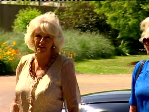 Exterior shots of Camilla Duchess of Cornwall arriving at Sir Harold Hillier Gardens in Ampfield Camilla arriving Sir Harold Gardens on July 09 2013...