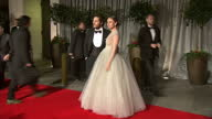 Exterior shots of celebrities posing on the red carpet as they arrive for the BAFTA after party at Grosvenor House including Sienna Guillory Amy...