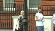 Exterior shots of Connie Yates and Chris Gard parents of terminally ill baby Charlie Gard arriving at Great Ormond Street Hospital to deliver a...