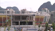Exterior shots of construction underway at the Rio Olympic park>> on May 16 2016 in Rio de Janeiro Brazil
