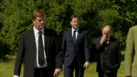 Exterior shots of Danny Alexander and Nick Clegg arriving with other mourners for the funeral of former Liberal Democrat Leader Charles Kennedy>> on...