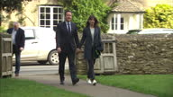 Exterior shots of David Cameron and Samantha Cameron arriving at Church for Easter Sermon on April 05 2015 in London England